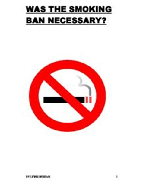 Essay about banning smoking in public places